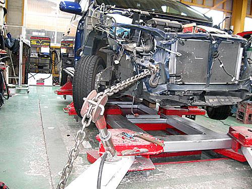 事故車 修理前