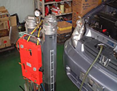 冷却水(LLC)の交換作業